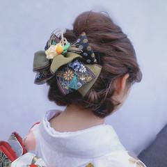 フェミニン ヘアアレンジ ロング 結婚式ヘアアレンジ ヘアスタイルや髪型の写真・画像