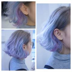 ストリート ガーリー ウェーブ ウェットヘア ヘアスタイルや髪型の写真・画像