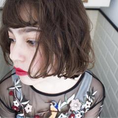 外国人風 ミルクティー パーマ ニュアンス ヘアスタイルや髪型の写真・画像