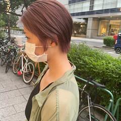 ハイトーンカラー ミニボブ ショートボブ ナチュラル ヘアスタイルや髪型の写真・画像