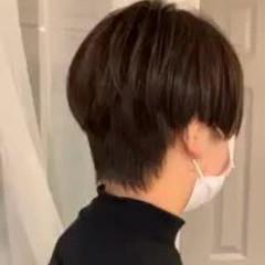 ショート ショートボブ 前髪あり ハイライト ヘアスタイルや髪型の写真・画像