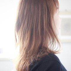 ゆるふわパーマ セミロング 毛先パーマ ワンカールパーマ ヘアスタイルや髪型の写真・画像