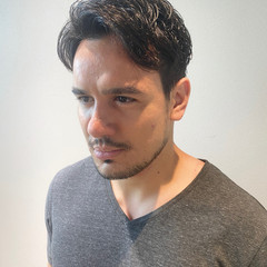 ナチュラル マッシュショート ツーブロック メンズヘア ヘアスタイルや髪型の写真・画像