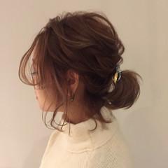 ヘアアレンジ ゆるふわ 時短 ニット ヘアスタイルや髪型の写真・画像