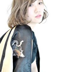 外国人風 ガーリー ハイライト ボブ ヘアスタイルや髪型の写真・画像