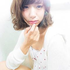 ストリート フェミニン 大人かわいい ブラウン ヘアスタイルや髪型の写真・画像