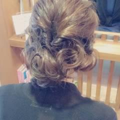 結婚式 アップスタイル ヘアアレンジ ゆるふわ ヘアスタイルや髪型の写真・画像