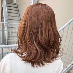 アプリコットオレンジ ナチュラル オレンジ カッパー ヘアスタイルや髪型の写真・画像