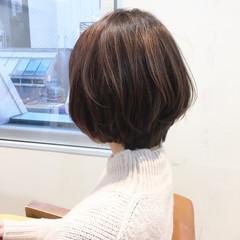 ボブ ショート ナチュラル デート ヘアスタイルや髪型の写真・画像