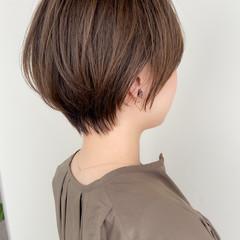 ハンサムショート 大人可愛い ナチュラル モテ髪 ヘアスタイルや髪型の写真・画像