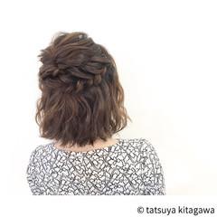結婚式 ハーフアップ ゆるふわ ヘアアレンジ ヘアスタイルや髪型の写真・画像