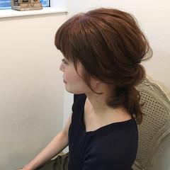 ミディアム 簡単ヘアアレンジ ヘアアレンジ 梅雨 ヘアスタイルや髪型の写真・画像