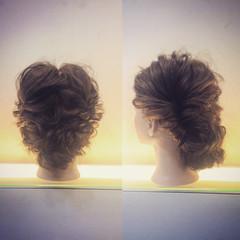 ショート ヘアアレンジ ゆるふわ フェミニン ヘアスタイルや髪型の写真・画像