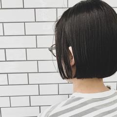 ミニボブ ショートボブ ボブ 切りっぱなしボブ ヘアスタイルや髪型の写真・画像