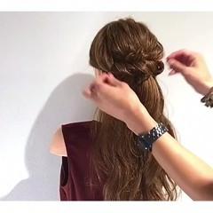 ロング 簡単ヘアアレンジ 女子会 色気 ヘアスタイルや髪型の写真・画像