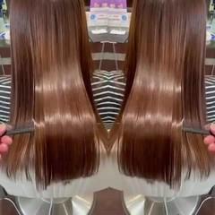 艶髪 縮毛矯正 髪質改善 ナチュラル ヘアスタイルや髪型の写真・画像