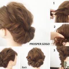 ショート 結婚式 時短 ナチュラル ヘアスタイルや髪型の写真・画像