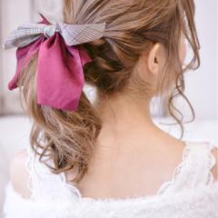 かわいい 冬 セミロング クリスマス ヘアスタイルや髪型の写真・画像