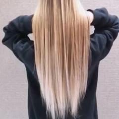 バレイヤージュ ロング 外国人風カラー 成人式 ヘアスタイルや髪型の写真・画像