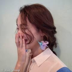 ゆるふわ フェミニン ヘアアレンジ 大人かわいい ヘアスタイルや髪型の写真・画像