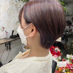 ショートヘア ベリーショート インナーカラー ナチュラル ヘアスタイルや髪型の写真・画像