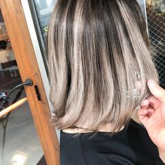 外国人風カラー 外国人風 ボブ ハイライト ヘアスタイルや髪型の写真・画像