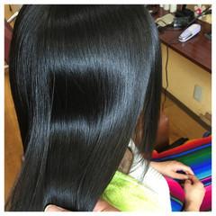 ストレート パーマ ロング ガーリー ヘアスタイルや髪型の写真・画像