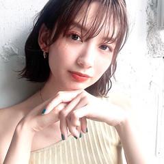 アンニュイほつれヘア ショートボブ デジタルパーマ ミディアム ヘアスタイルや髪型の写真・画像