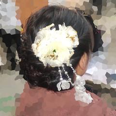 アップスタイル 着物 ロング ヘアアレンジ ヘアスタイルや髪型の写真・画像