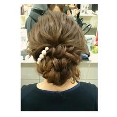シニヨン フェミニン ヘアアレンジ ロング ヘアスタイルや髪型の写真・画像