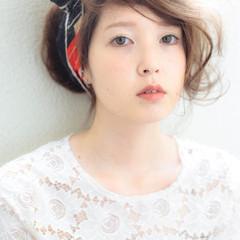 ピュア ヘアアレンジ ヘアアクセ ロング ヘアスタイルや髪型の写真・画像