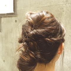 大人かわいい ヘアアレンジ セミロング 夏 ヘアスタイルや髪型の写真・画像