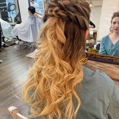 簡単ヘアアレンジ ヘアアレンジ ヘアセット ナチュラル ヘアスタイルや髪型の写真・画像