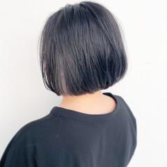 ナチュラル モテ髪 まとまるボブ 切りっぱなしボブ ヘアスタイルや髪型の写真・画像