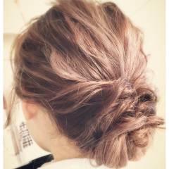ミディアム ヘアアレンジ パーティ 結婚式 ヘアスタイルや髪型の写真・画像