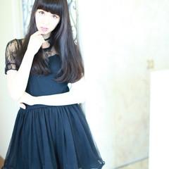 サラサラ ストレート 艶髪 ロング ヘアスタイルや髪型の写真・画像
