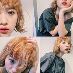ストリート グラデーションカラー 簡単ヘアアレンジ ショート ヘアスタイルや髪型の写真・画像