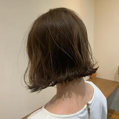 外ハネ ボブ ショートヘア アンニュイほつれヘア ヘアスタイルや髪型の写真・画像