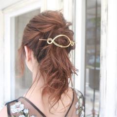 上品 大人かわいい ヘアアレンジ エレガント ヘアスタイルや髪型の写真・画像