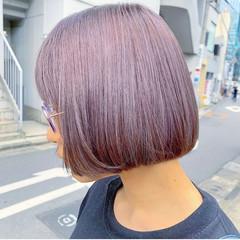 ラベンダーグレージュ ピンクラベンダー ラベンダー ラベンダーカラー ヘアスタイルや髪型の写真・画像
