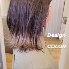 ミディアム 裾カラー ストリート インナーカラー ヘアスタイルや髪型の写真・画像