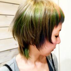 外国人風 ショート アッシュ モード ヘアスタイルや髪型の写真・画像