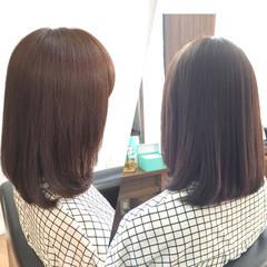 ピンクアッシュ ミディアム ベージュ アッシュ ヘアスタイルや髪型の写真・画像