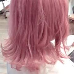 ブリーチ ピンクラベンダー ヘアカラー フェミニン ヘアスタイルや髪型の写真・画像