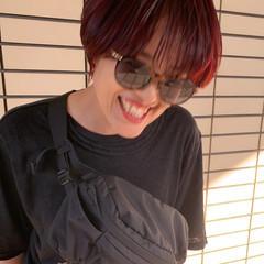 ショート ストリート ダブルカラー ハイライト ヘアスタイルや髪型の写真・画像