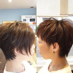 ショート ストリート アシメバング ヘアスタイルや髪型の写真・画像