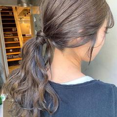 ナチュラル デート ロング 簡単ヘアアレンジ ヘアスタイルや髪型の写真・画像