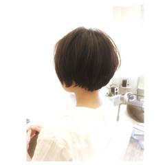 ショートボブ ショート ナチュラル ボブ ヘアスタイルや髪型の写真・画像