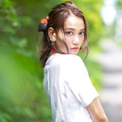 アンニュイほつれヘア ヘアアレンジ ナチュラル 簡単ヘアアレンジ ヘアスタイルや髪型の写真・画像
