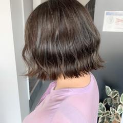 ハイライト ボブ コントラストハイライト ガーリー ヘアスタイルや髪型の写真・画像